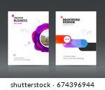 abstract business brochure...   Shutterstock .eps vector #674396944
