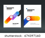 annual report with photo and...   Shutterstock .eps vector #674397160
