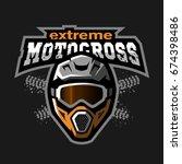 extreme motocross logo  on a... | Shutterstock .eps vector #674398486