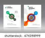 abstract business brochure... | Shutterstock .eps vector #674398999