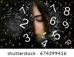 numerology  magic of numbers | Shutterstock . vector #674399416