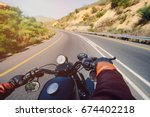 the road view over the... | Shutterstock . vector #674402218