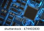3d rendered illustration of... | Shutterstock . vector #674402830