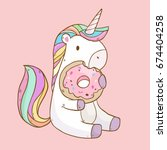vector illustration with cute... | Shutterstock .eps vector #674404258