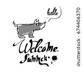 dog animal puppy pet vector... | Shutterstock .eps vector #674406370