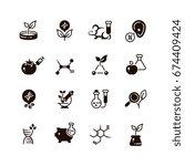 genetic modification... | Shutterstock .eps vector #674409424