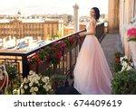 tender outdoor full length... | Shutterstock . vector #674409619