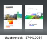 abstract business brochure... | Shutterstock .eps vector #674410084