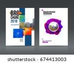 brochure cover design layout... | Shutterstock .eps vector #674413003