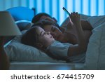 the girl phone near the... | Shutterstock . vector #674415709