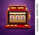 jackpot slot casino machine.... | Shutterstock .eps vector #674417923