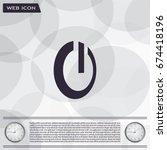 power button icon   Shutterstock .eps vector #674418196