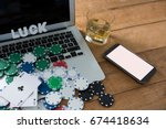 high angle view of scattered...   Shutterstock . vector #674418634