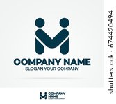 partnership logo template... | Shutterstock .eps vector #674420494