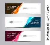 vector abstract design banner... | Shutterstock .eps vector #674421964