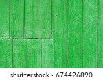green wooden background  color... | Shutterstock . vector #674426890