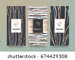 vector set packaging templates... | Shutterstock .eps vector #674429308