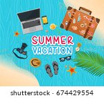 summer holiday vacation concept ... | Shutterstock .eps vector #674429554