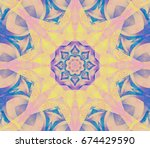 beautiful  retro kaleidoscope... | Shutterstock . vector #674429590