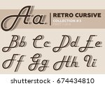 retro character typeset.... | Shutterstock .eps vector #674434810