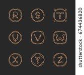 vector letters r  s  t  u  v  w ... | Shutterstock .eps vector #674436820