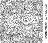 cartoon sketchy hand drawn... | Shutterstock .eps vector #674437360