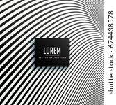 minimal black lines wavy... | Shutterstock .eps vector #674438578