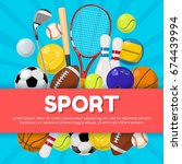 sport poster design of... | Shutterstock .eps vector #674439994