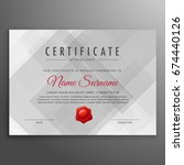 gray certificate design... | Shutterstock .eps vector #674440126
