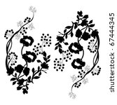 vector floral material on white ... | Shutterstock .eps vector #67444345
