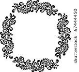vector floral material on white ...   Shutterstock .eps vector #67444450