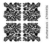 vector floral material on white ... | Shutterstock .eps vector #67444456