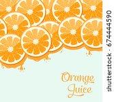 orange juice | Shutterstock .eps vector #674444590