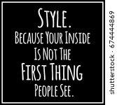 funny  inspirational quotation... | Shutterstock .eps vector #674444869