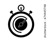 stopwatch icon | Shutterstock .eps vector #674445748