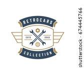 car wheel logo template vector... | Shutterstock .eps vector #674445766
