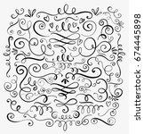Hand Drawn Decorative Curls An...