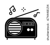 radio icon | Shutterstock .eps vector #674448154