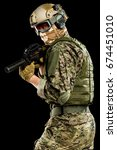 male in uniform of tactical... | Shutterstock . vector #674451010