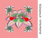 varicolored vector seamless... | Shutterstock .eps vector #674454226