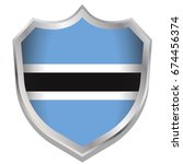a shield illustration with the... | Shutterstock . vector #674456374