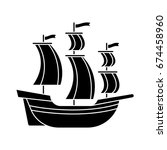 galleon icon | Shutterstock .eps vector #674458960