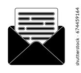 email letter icon | Shutterstock .eps vector #674459164