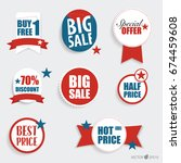 """collection of """"sale label price ... 