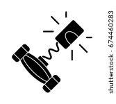 corkscrew icon | Shutterstock .eps vector #674460283