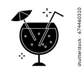 cocktail icon | Shutterstock .eps vector #674460310