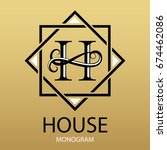 design modern logotype for... | Shutterstock .eps vector #674462086