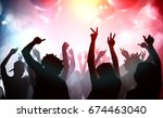 silhouettes of young people... | Shutterstock . vector #674463040