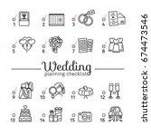 template design wedding... | Shutterstock .eps vector #674473546