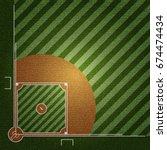 realistic denim texture of... | Shutterstock .eps vector #674474434